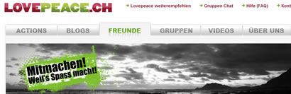 LovePeace.ch - die Single Community von Greenpeace